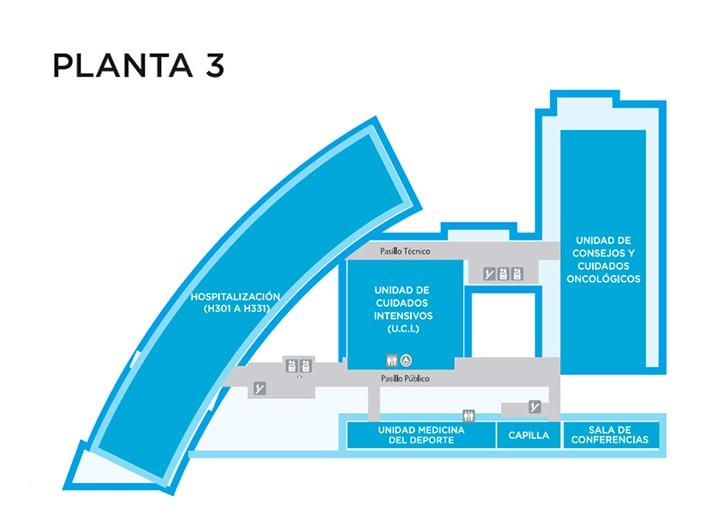 Estructura distribucin y planos hospital la moraleja for Planta arquitectonica de una oficina